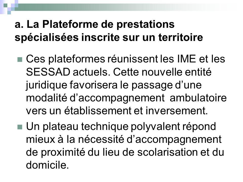 Cette plateforme offrira à terme, des équipements aux différents SESSAD spécialisés de la Sarthe.