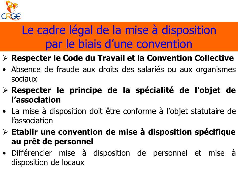 Respecter le Code du Travail et la Convention Collective Absence de fraude aux droits des salariés ou aux organismes sociaux Respecter le principe de