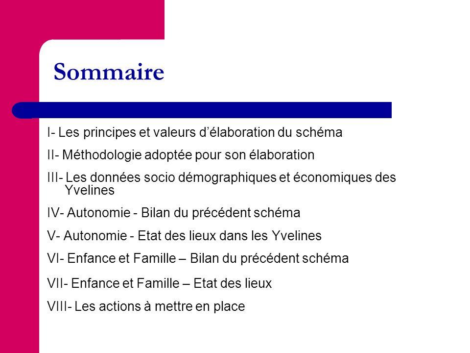 Sommaire I- Les principes et valeurs délaboration du schéma II- Méthodologie adoptée pour son élaboration III- Les données socio démographiques et éco
