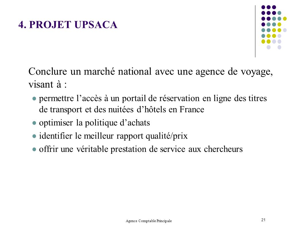 Agence Comptable Principale 21 4.