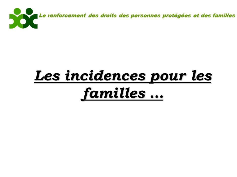 Le renforcement des droits des personnes protégées et des familles Les incidences pour les familles …