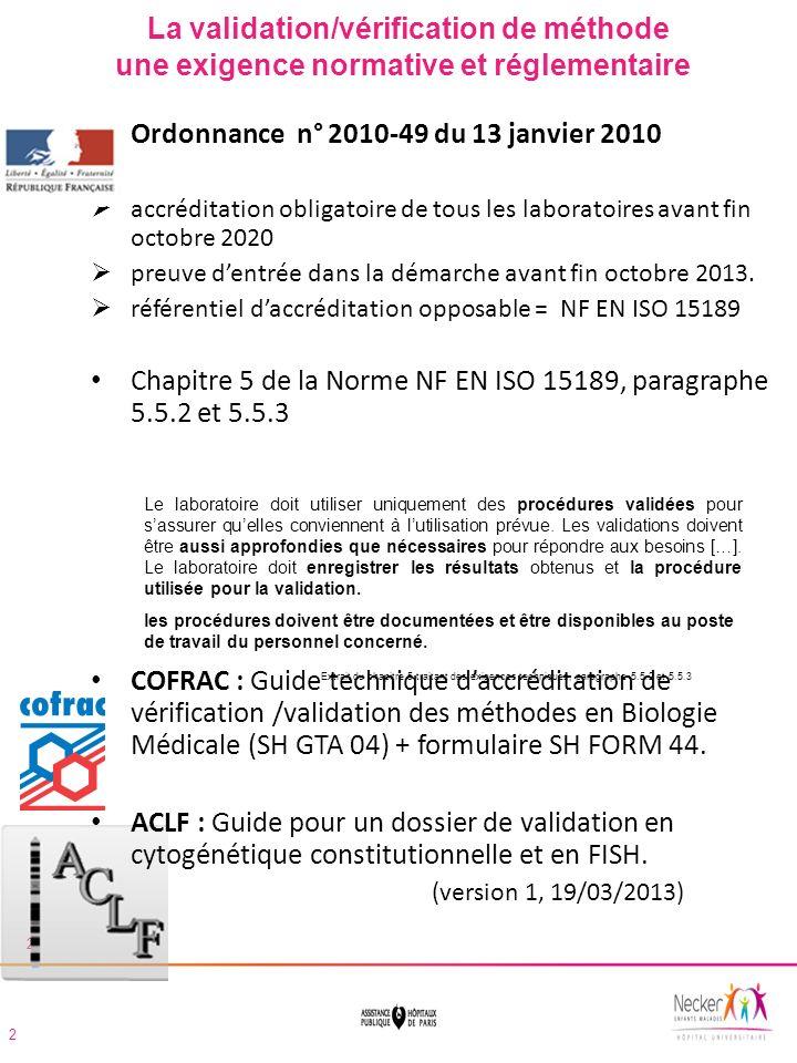 Formulaire téléchargeable sur le site www.cofrac.frwww.cofrac.fr Depuis larrêté du 17 octobre 2012, ce document doit être obligatoirement transmis au COFRAC.
