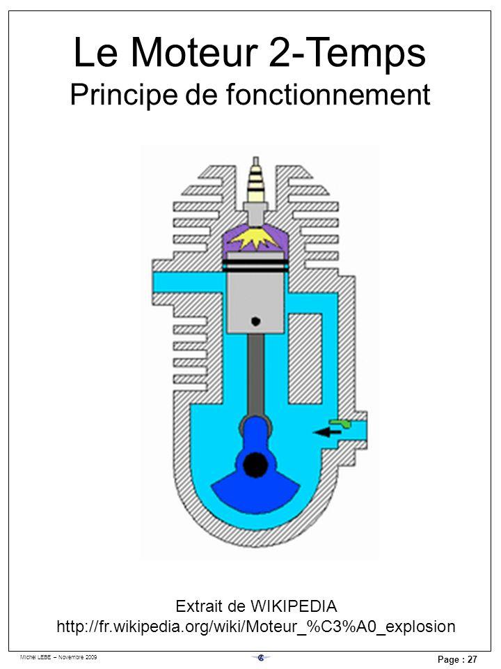Michel LEBE – Novembre 2009 Page : 27 Le Moteur 2-Temps Principe de fonctionnement Extrait de WIKIPEDIA http://fr.wikipedia.org/wiki/Moteur_%C3%A0_exp