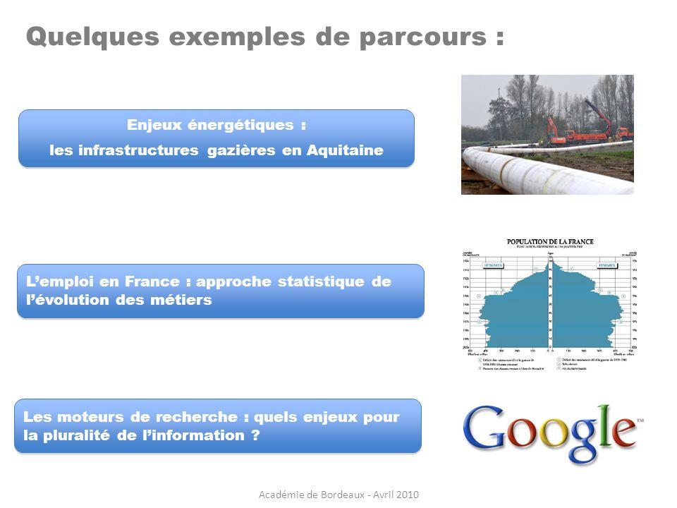 Enjeux énergétiques : les infrastructures gazières en Aquitaine Enjeux énergétiques : les infrastructures gazières en Aquitaine Quelques exemples de p