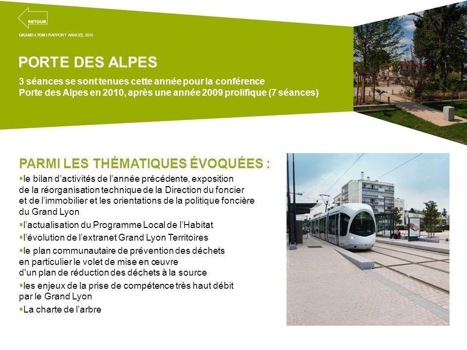 Projets transversaux de la mission coordination territoriale PORTE DES ALPES 3 séances se sont tenues cette année pour la conférence Porte des Alpes e