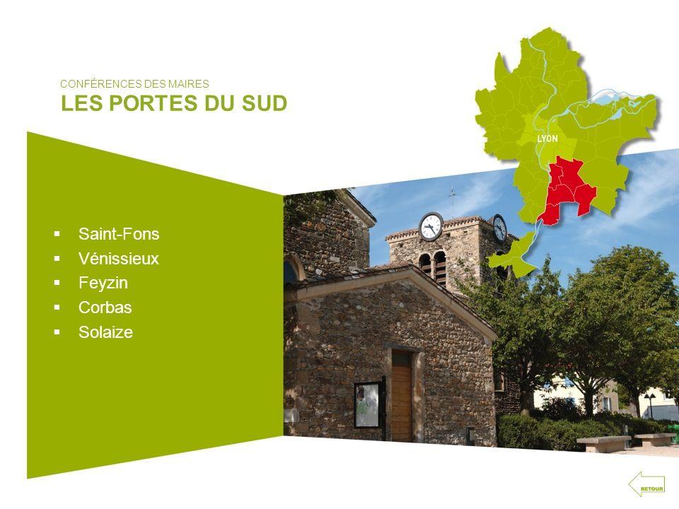 CONFÉRENCES DES MAIRES LES PORTES DU SUD Saint-Fons Vénissieux Feyzin Corbas Solaize