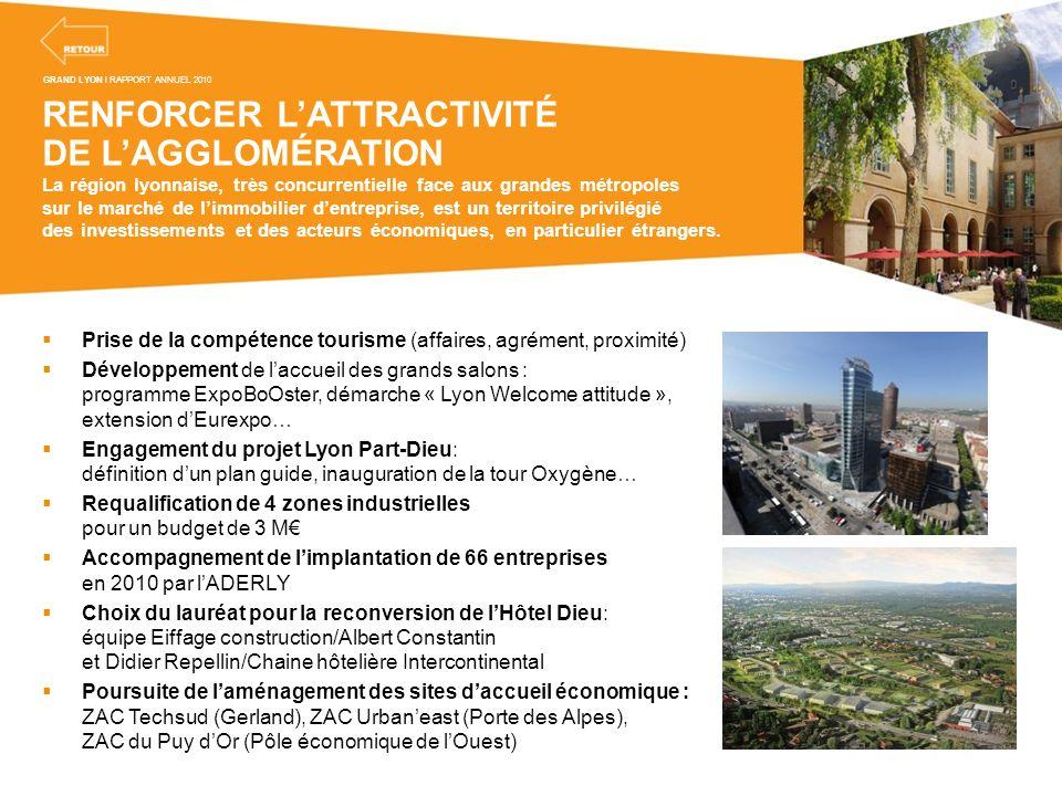 RENFORCER LATTRACTIVITÉ DE LAGGLOMÉRATION La région lyonnaise, très concurrentielle face aux grandes métropoles sur le marché de limmobilier dentrepri