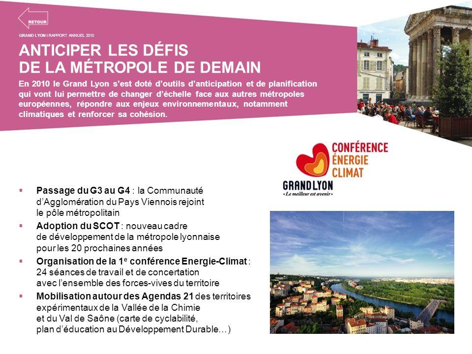 ANTICIPER LES DÉFIS DE LA MÉTROPOLE DE DEMAIN En 2010 le Grand Lyon sest doté doutils danticipation et de planification qui vont lui permettre de chan