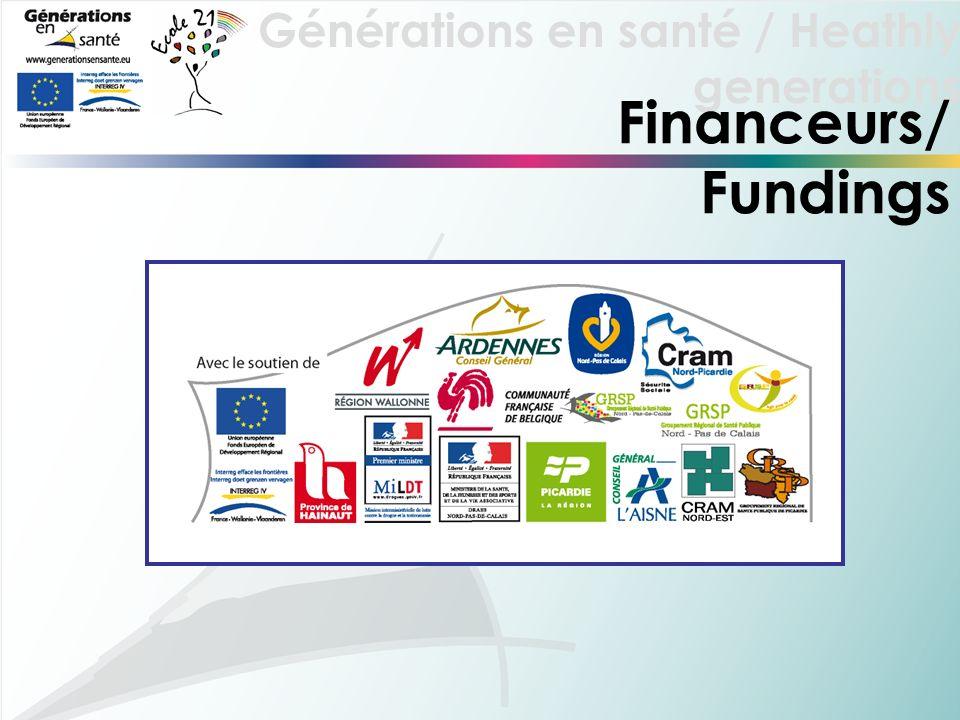 Générations en santé / Heathly generations Financeurs/ Fundings