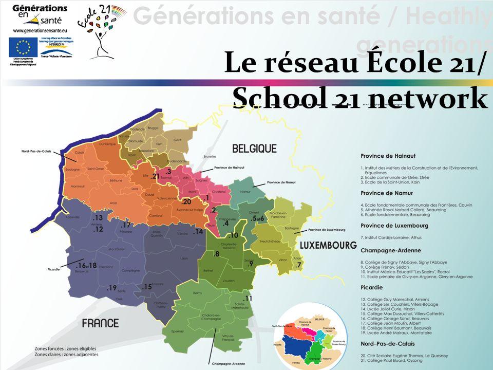 Générations en santé / Heathly generations Le réseau École 21/ School 21 network