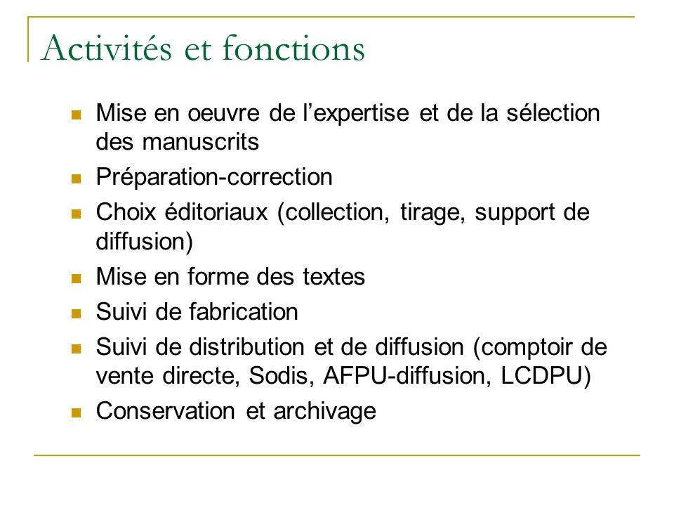 Exemple 3 : Prépublications Expertise scientifiqueInterne; au niveau de l équipe ou du laboratoire de recherche.