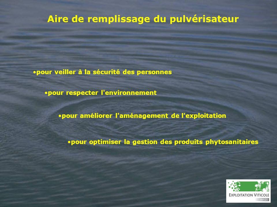 Aire de remplissage du pulvérisateur pour veiller à la sécurité des personnes pour respecter l'environnement pour améliorer l'aménagement de l'exploit