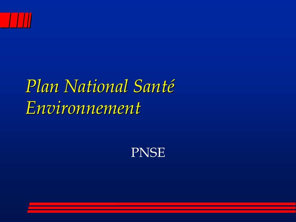 Plan National Santé Environnement PNSE