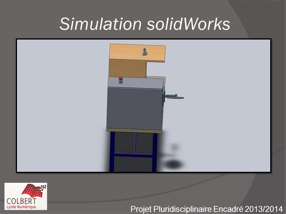 Simulation solidWorks Projet Pluridisciplinaire Encadré 2013/2014