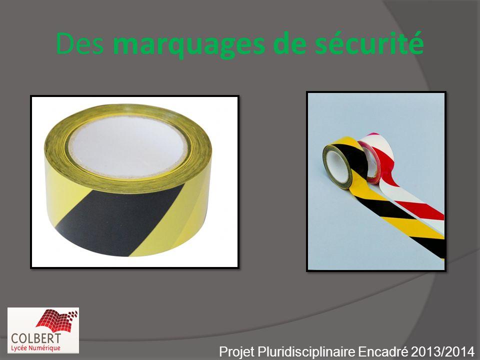 Des marquages de sécurité Projet Pluridisciplinaire Encadré 2013/2014