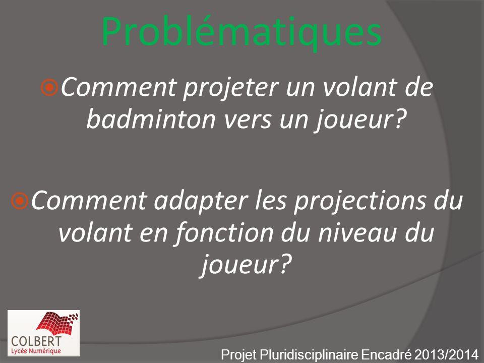 Problématiques Comment projeter un volant de badminton vers un joueur.
