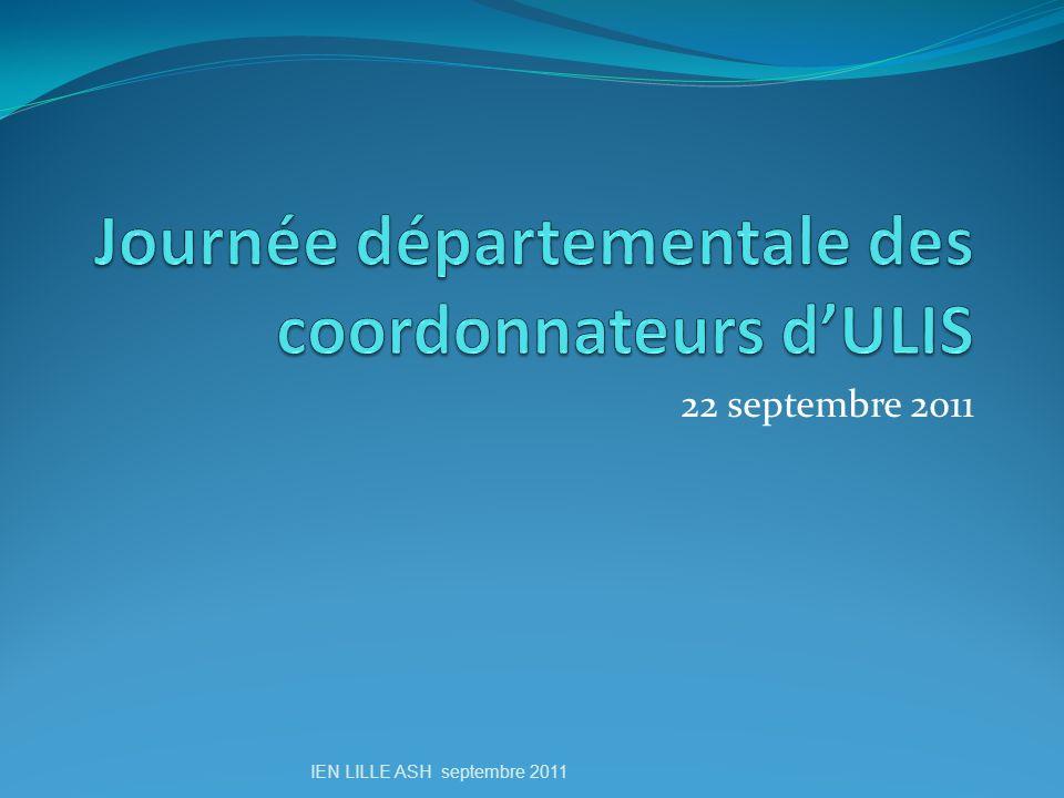 22 septembre 2011 IEN LILLE ASH septembre 2011