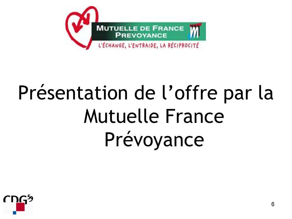 Présentation de loffre par la Mutuelle France Prévoyance 6