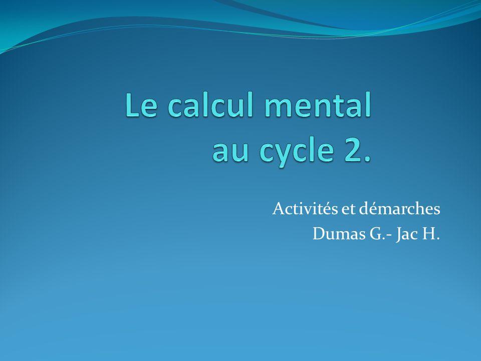 Activités et démarches Dumas G.- Jac H.