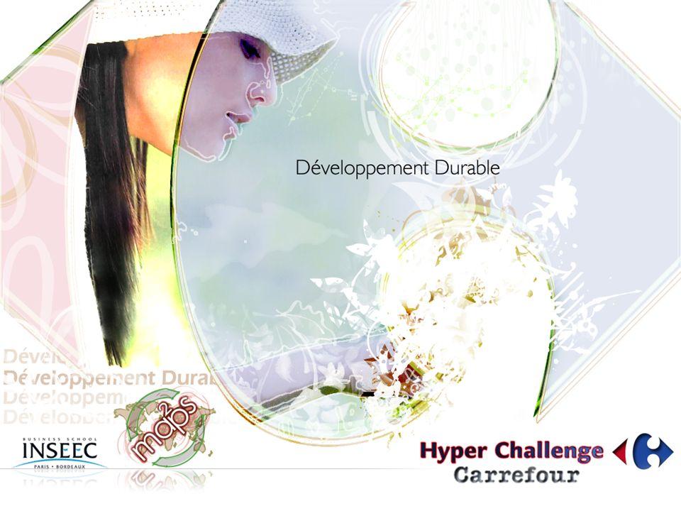 Rappel du brief « Carrefour Hypermarchés est très avancé dans les démarches de développement durable.