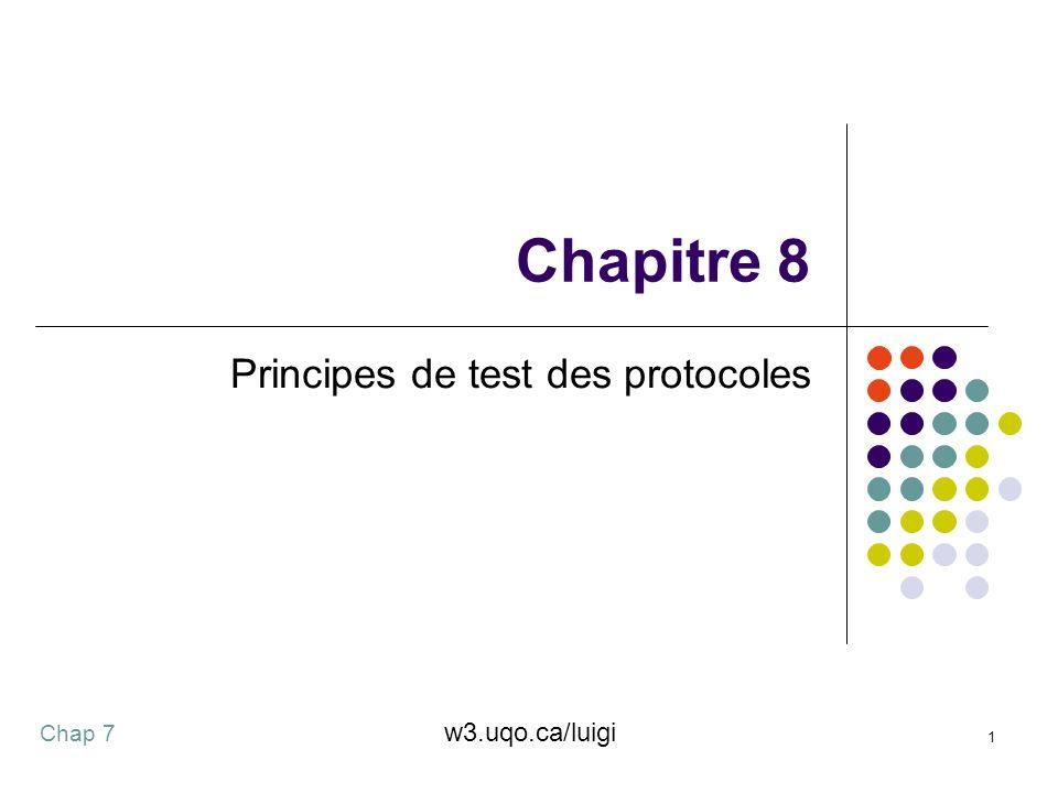 Chap 7 1 Chapitre 8 Principes de test des protocoles w3.uqo.ca/luigi