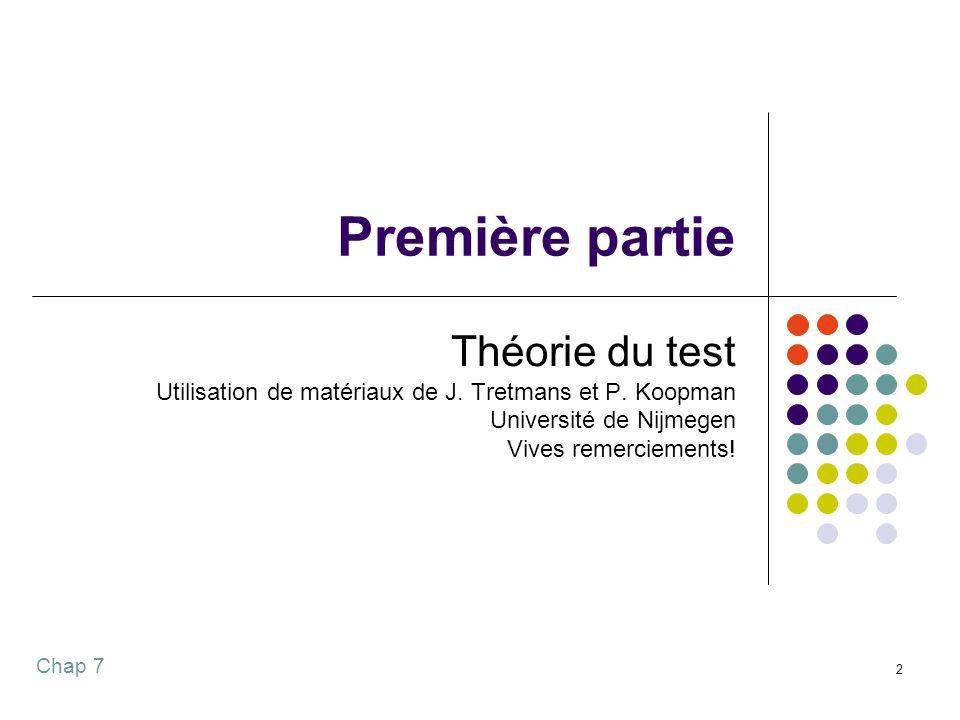 Chap 7 2 Première partie Théorie du test Utilisation de matériaux de J.