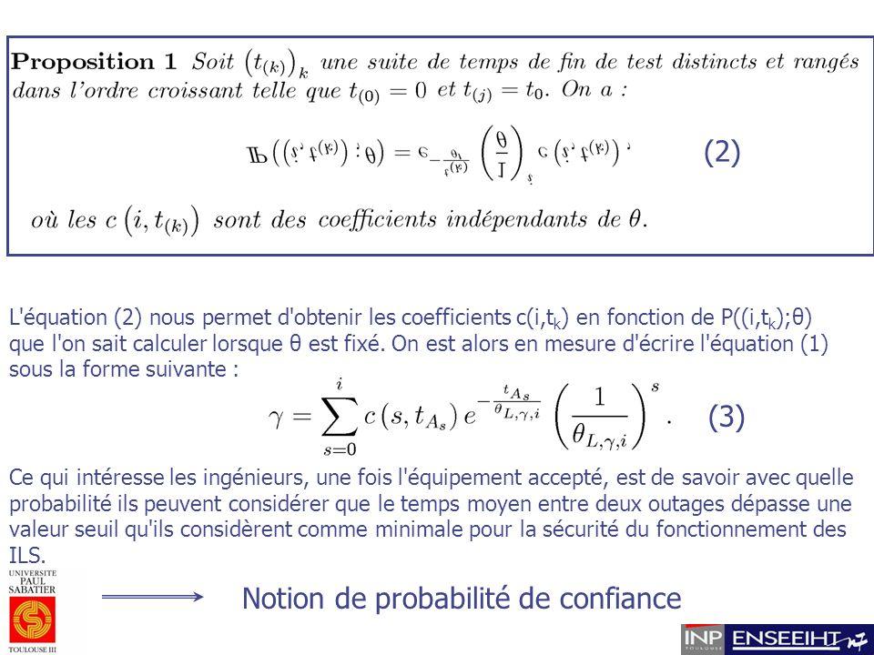 (2) L équation (2) nous permet d obtenir les coefficients c(i,t k ) en fonction de P((i,t k );θ) que l on sait calculer lorsque θ est fixé.
