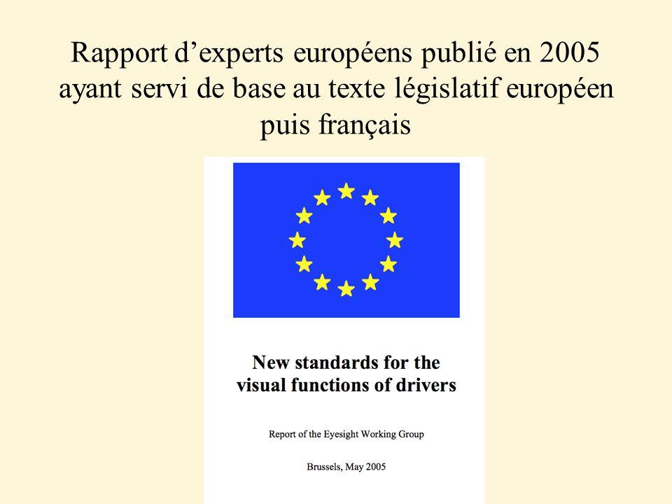 Rapport dexperts européens publié en 2005 ayant servi de base au texte législatif européen puis français