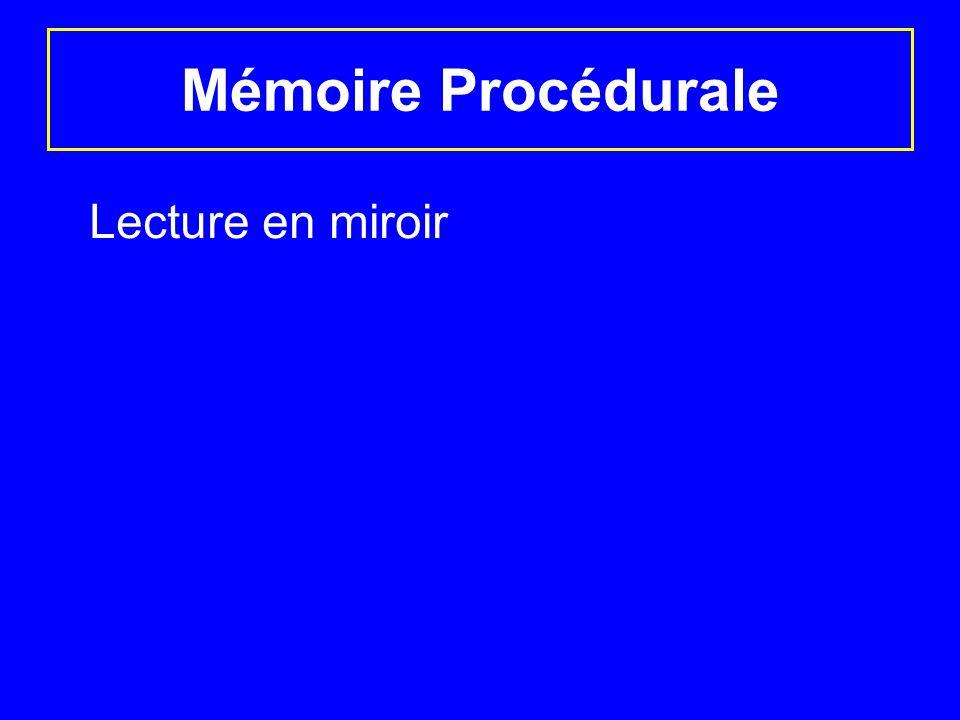 Mémoire Procédurale Lecture en miroir