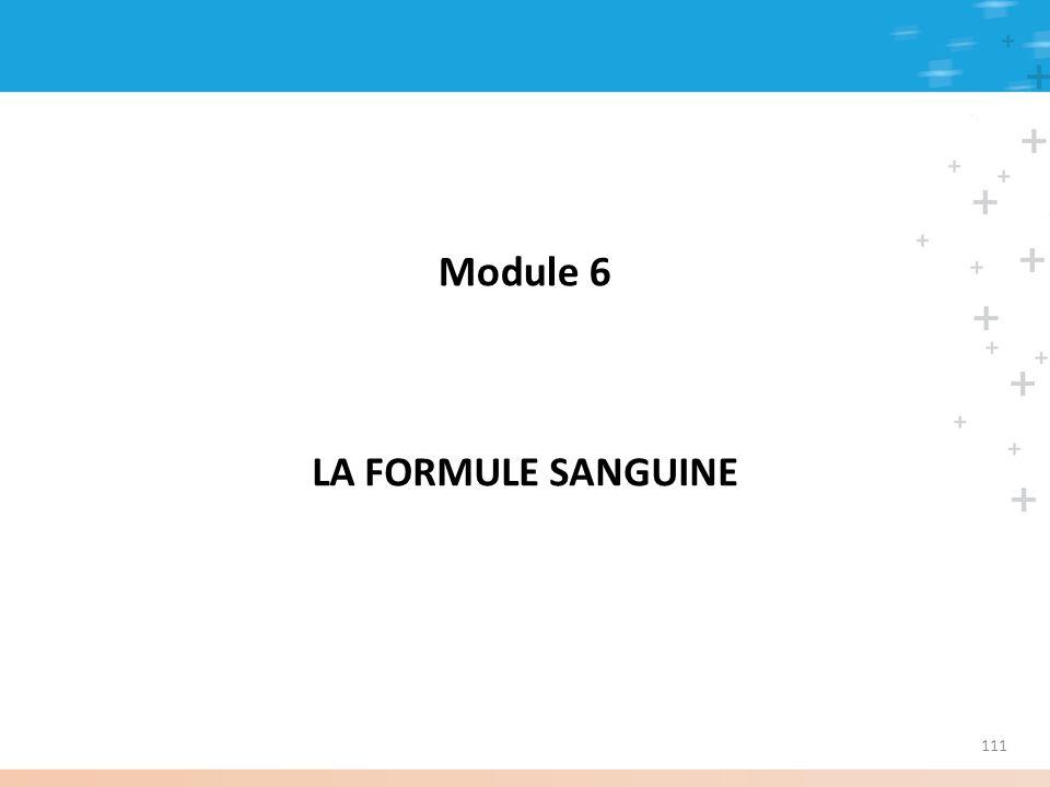 Module 6 LA FORMULE SANGUINE 111