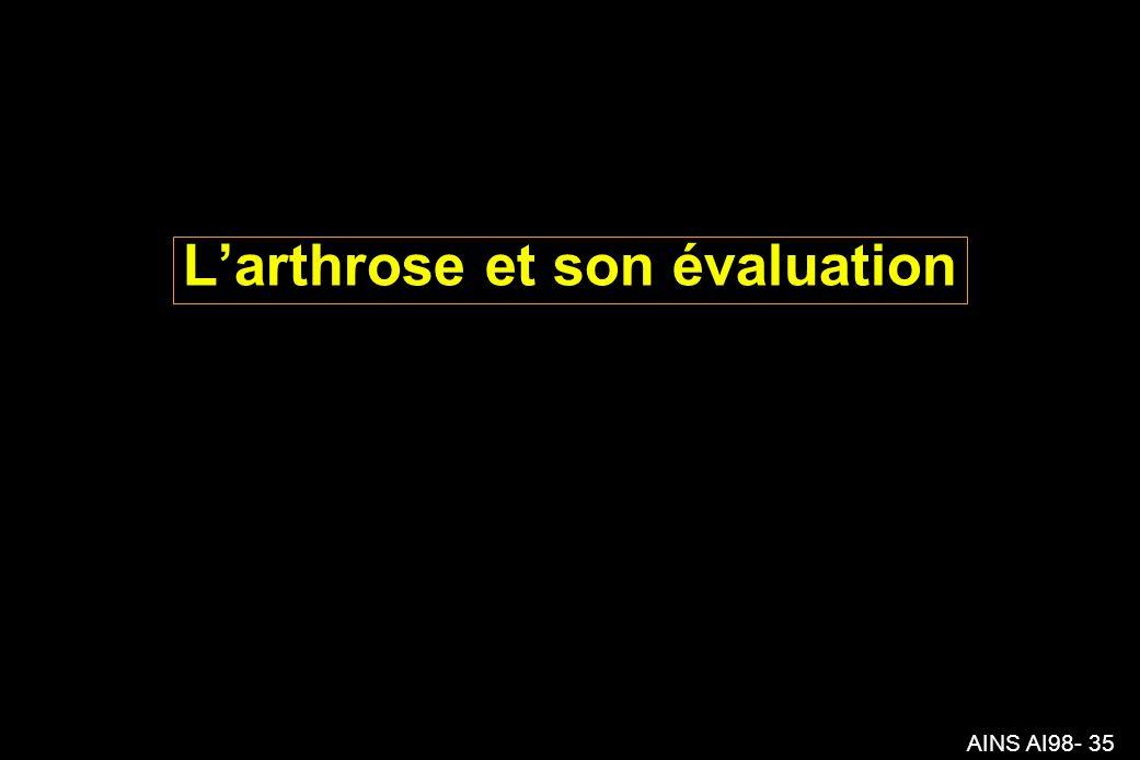 AINS AI98- 35 Larthrose et son évaluation