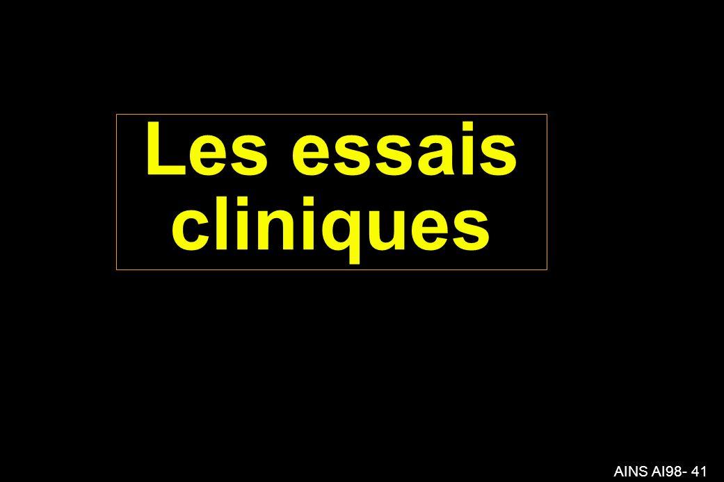 AINS AI98- 41 Les essais cliniques