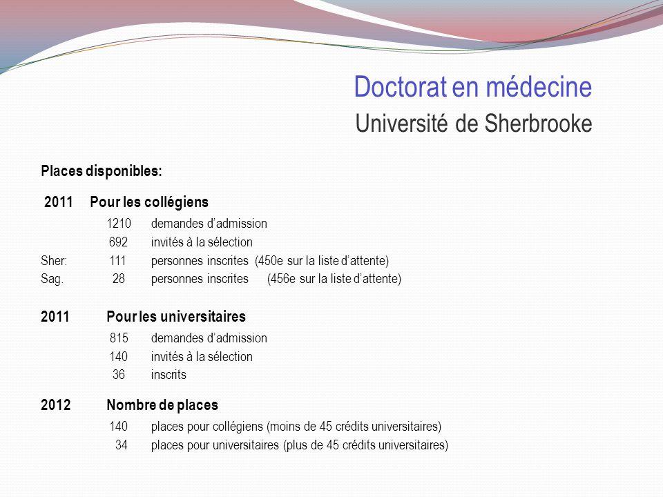 Doctorat en médecine Ministère de la Santé et Services sociaux du Québec Inscriptions en médecine pour les candidats de certaines régions Afin de faci