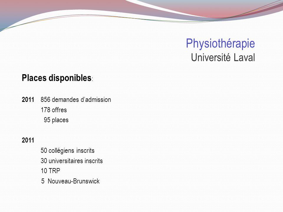 Physiothérapie Université Laval Sélection : 75% Cote R 25% NAS NAS La N ote A utobiographique S tandardisée doit être remplie par tous les candidats dont la cote est égale ou supérieure à 30.5.