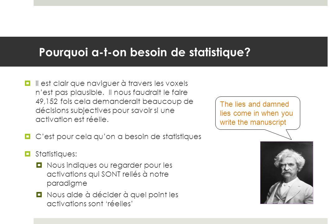 Statistiques: le test t Le test t sert à comparer la grosseur des effets (i.e.