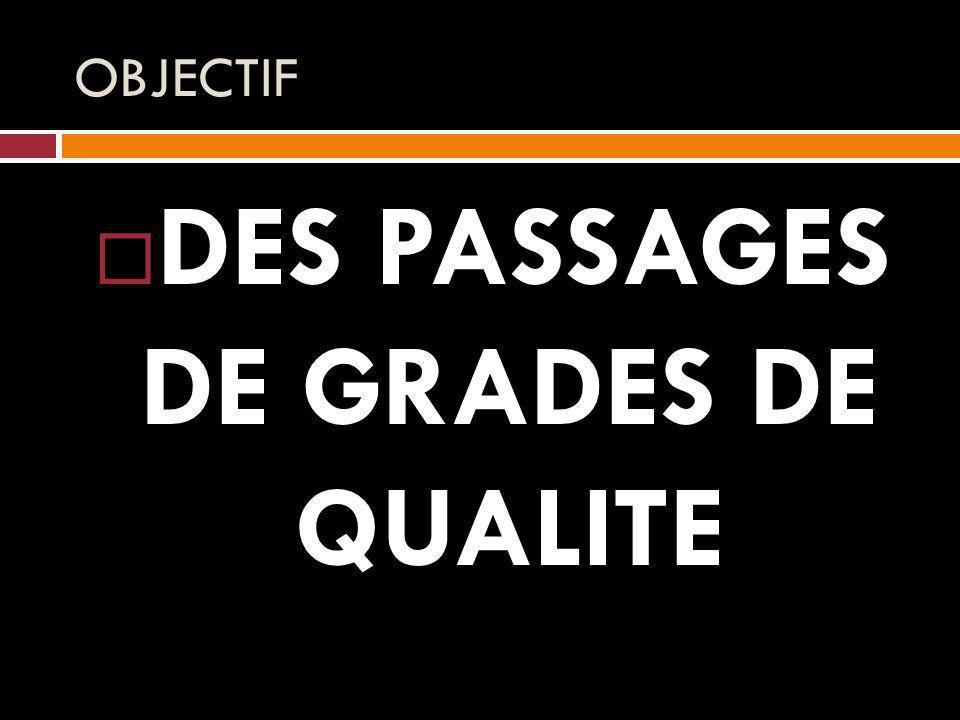 OBJECTIF DES PASSAGES DE GRADES DE QUALITE
