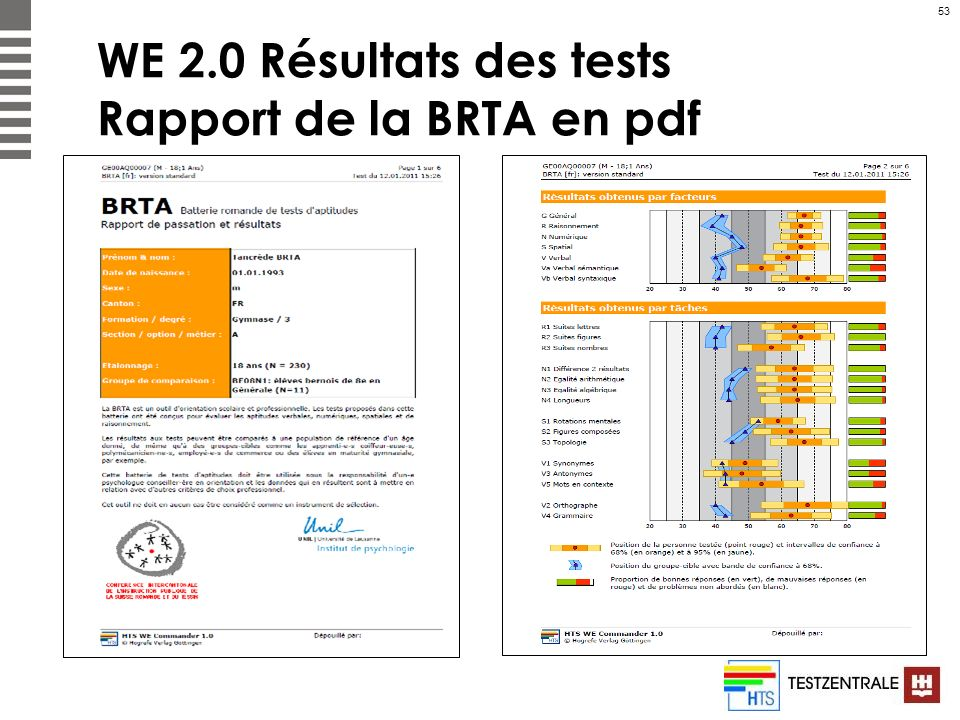 53 WE 2.0 Résultats des tests Rapport de la BRTA en pdf