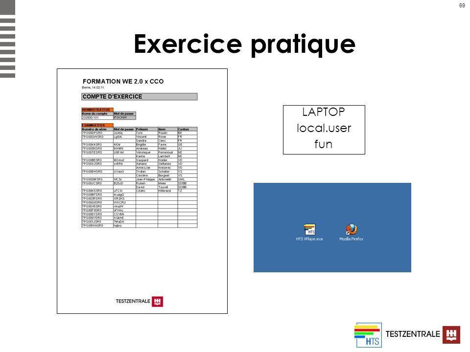 69 Exercice pratique LAPTOP local.user fun