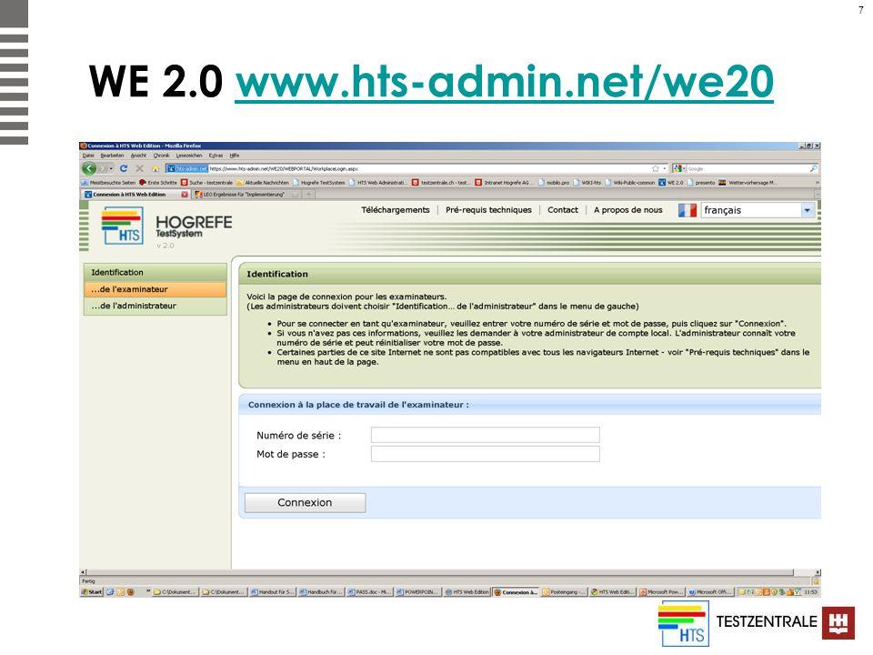 7 WE 2.0 www.hts-admin.net/we20www.hts-admin.net/we20