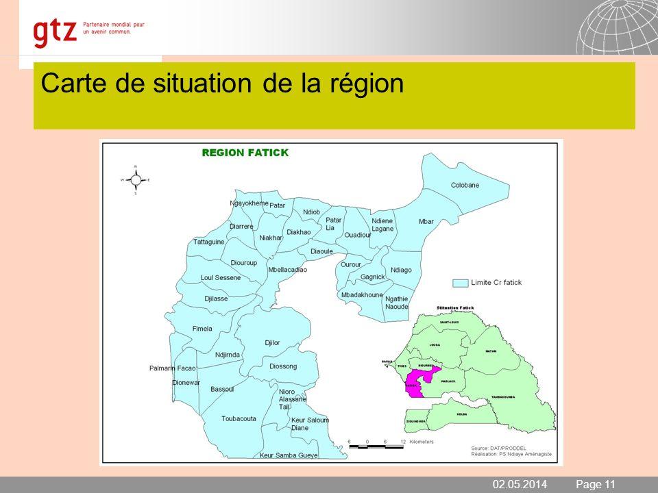 02.05.2014 Seite 11 Page 11 Carte de situation de la région 02.05.2014