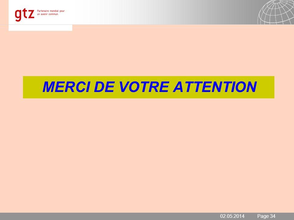 02.05.2014 Seite 34 Page 34 MERCI DE VOTRE ATTENTION 02.05.2014