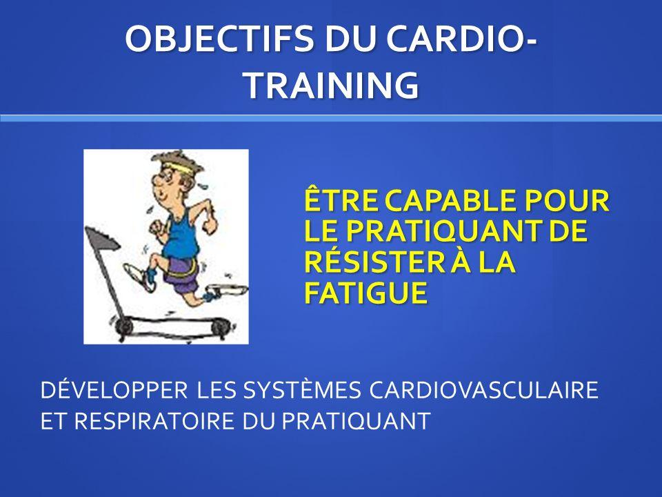 SOURCE « Le guide pratique du cardio-training » - J.