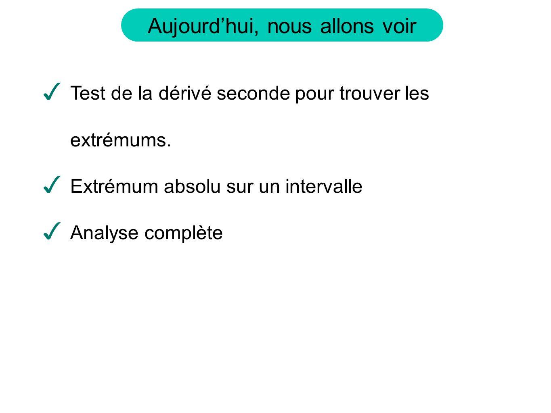 Aujourdhui, nous allons voir Test de la dérivé seconde pour trouver les extrémums.