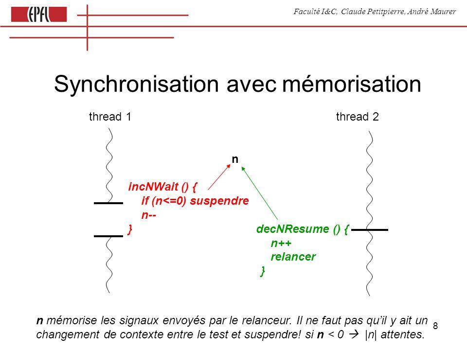 Faculté I&C, Claude Petitpierre, André Maurer 9 Attente dans un processus function execute () { switch (state) { case 0:...