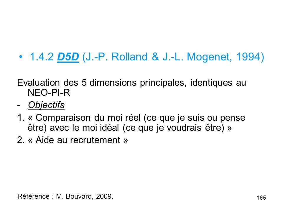 1.4.2 D5D (J.-P.Rolland & J.-L.