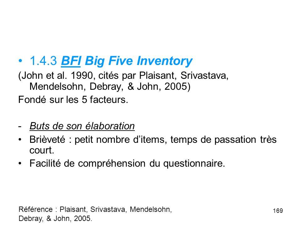 1.4.3 BFI Big Five Inventory (John et al.