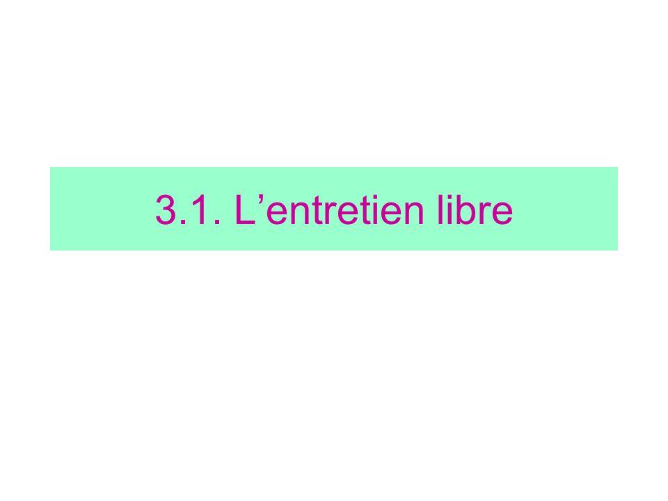 3.1. Lentretien libre
