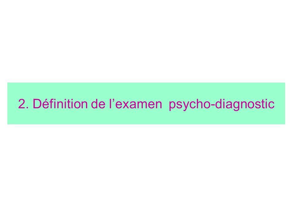 2. Définition de lexamen psycho-diagnostic
