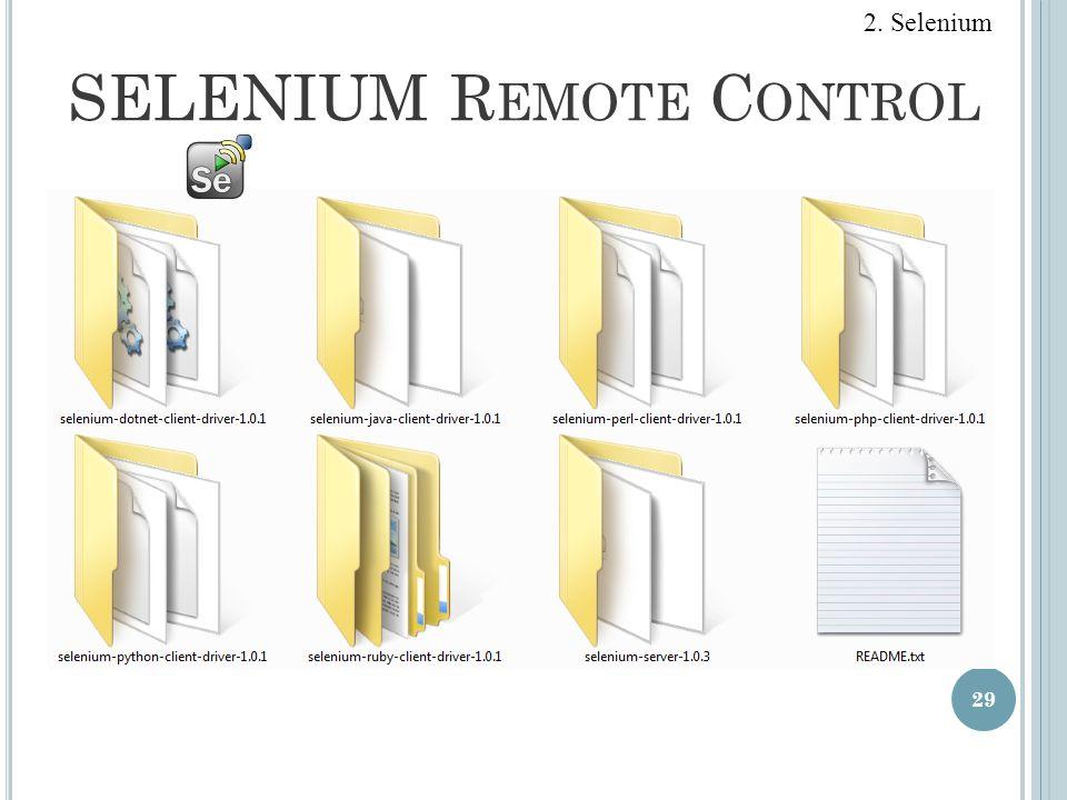 SELENIUM R EMOTE C ONTROL 29 2. Selenium