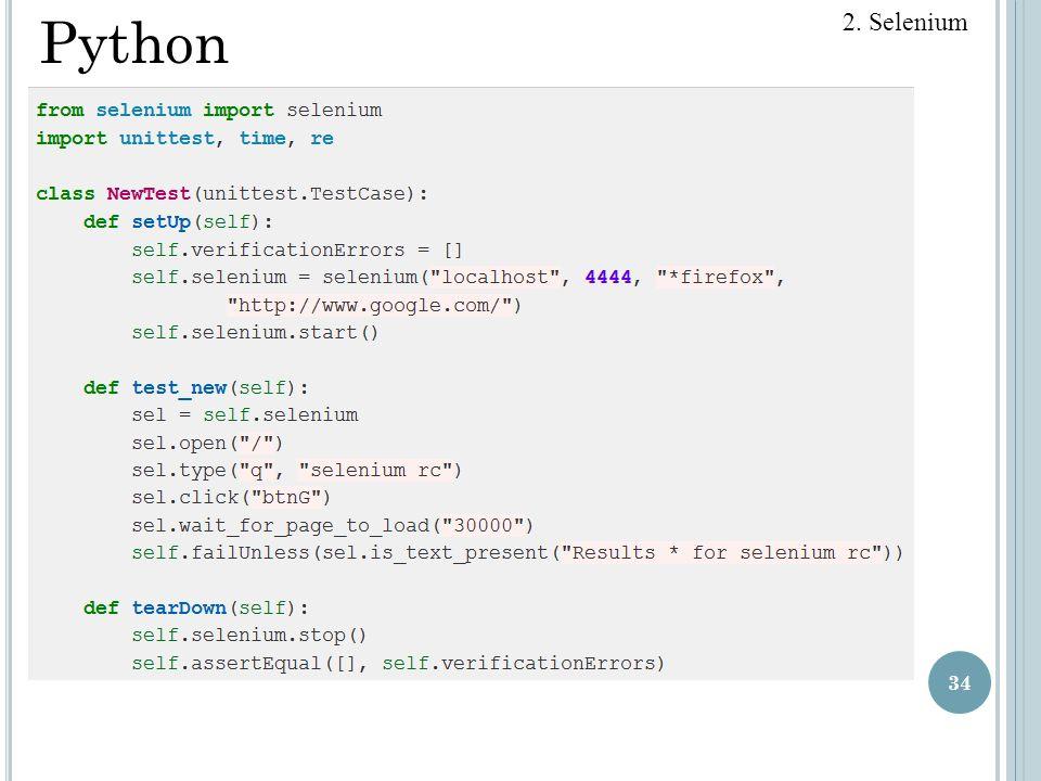 34 2. Selenium Python